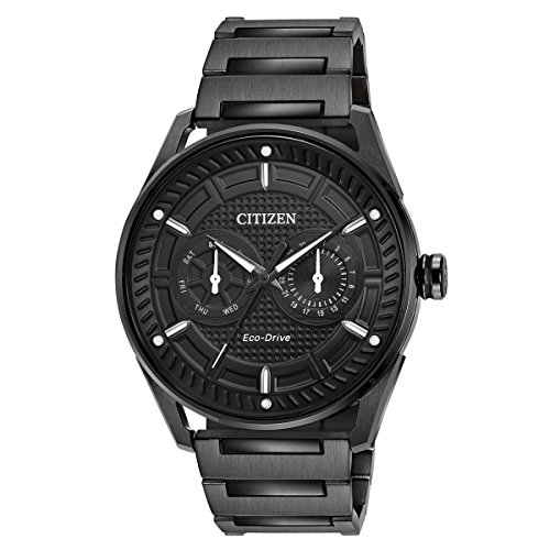 Eco Drive Black Dial Watch (Citizen Eco-Drive Men's Ion Plated Watch)