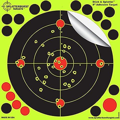 Splatterburst Targets 8 Inch Splatterburst Stick & Splatter Adhesive Shooting Targets, (Pack of (Bb Gun Target)