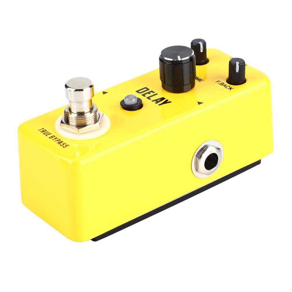 Guitar Effects Pedal, Professional Mini Metal Shell Analog Echo Delay Guitar Pedal or Multi-Effects Pedal Processor Musical Instrument Parts Fit for most Guitar and Amplifier