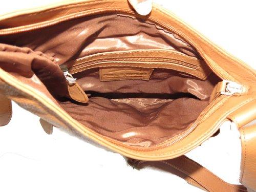 Leather Taylor with Paul Crossbody Bag Pockets Genuine 5931 Brown C amp; Pfnwa1wSxt