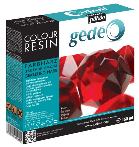 Red Resin (Pebeo Gedeo Color Resin, 150ml, Ruby)