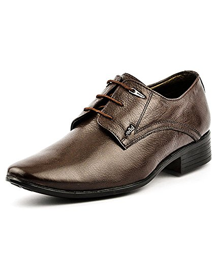 7abd87a71bab Lee Cooper Men s Brown Leather Formal Shoes - 6 UK India (40 EU ...