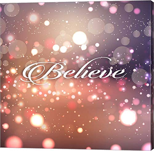 - Believe by Tamara Robinson Canvas Art Wall Picture, Gallery Wrap, 12 x 12 inches