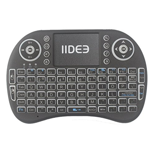 Rii i8 (10038-ID) Mini 2.4GHz Wireless Touchpad Keyboard with Mouse, Black by Rii (Image #4)