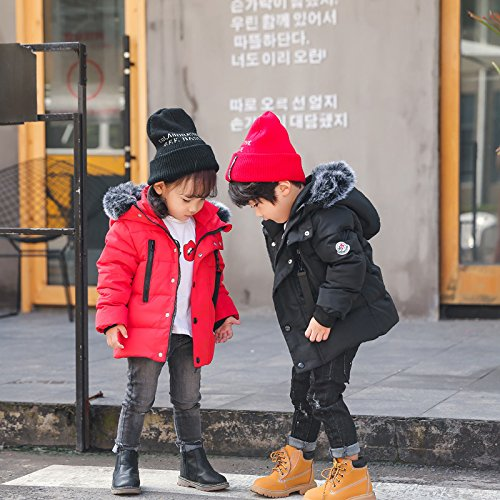 Windproof Boys Foyeria Winter For Outdoor Down Jacket Coat Coat Warm Puffer Winter Red Baby Girls wqFPS0q1x