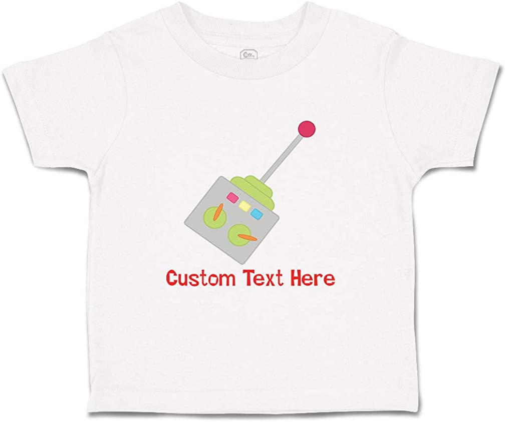 Custom Baby /& Toddler T-Shirt Robot Remote Control Cotton Boy Girl Clothes