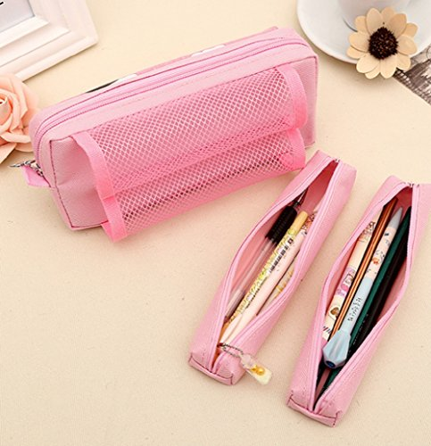 YunKo Portable Large Capacity Cute Pink Multi-Layer ... - photo#7