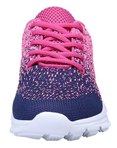 KOUDYEN Casual Scarpe Confortable Sportive all'Aperto da Running Rosa Donna Ginnastica Fitness Corsa Sneakers Basse Scarpe Azzurro RcA7RUqrw