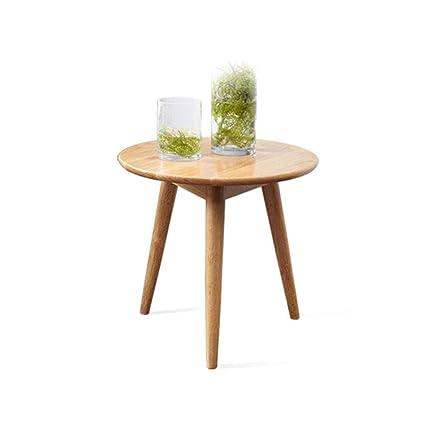Amazon.com: XBBZ Solid Wood Coffee Table, Oak Side Table ...