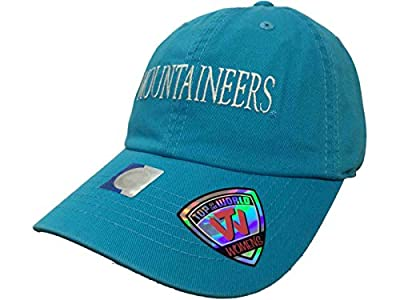 Top of the World West Virginia Mountaineers TOW WOMEN Lagoon Blue Seaside Adjustable Hat Cap by Top of the World