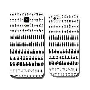 Silhouettes of bottles, glasses and corkscrew, vector cell phone cover case iPhone5