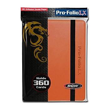 Orange FLAHC 1-PF9LX-ORG BCW 9 Pocket Pro-Folio LX Game