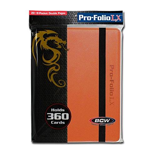 (BCW 9 Pocket Pro-Folio LX Game, Orange)