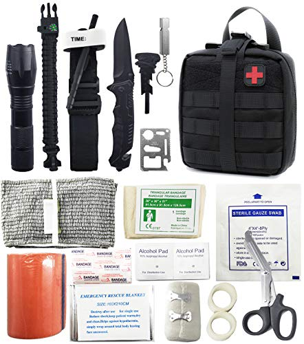Survival Kit First Aid Kit Molle Pouch Trauma Bag Tactical IFAK Pouch for Camping Boating Hunting Hiking Home Car and Adventure