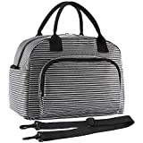 ORASANT Lunch Bag, Large& Durable Insulated Water-resistant Cooler& Thermal Lunch Bag for Women and Men, Fashionable Lunch Tote with Detachable Shoulder Strap for Work, School, Beach, Picnic, Camping