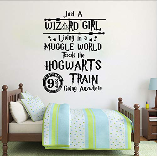 hfwh Pegatinas De Pared - 73x56cm Harry Potter Hogwarts Mago Muggle Mundial/Harry Potter Inspirational Cita Calcomania De La Pared