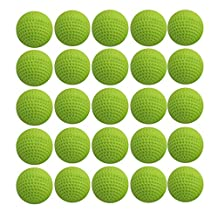 Ennrui 60PCS Green Round Ammo- Bulk Foam Bullet Ball Replacement Refill Pack for Nerf Rival Zeus,Apollo, Khaos, Atlas, & Artemis Blasters