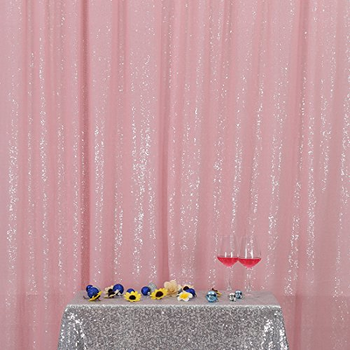 3e Home 4FT x 7FT Sequin Photography Backdrop Curtain for Pa