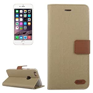 Roar Stripe Texture Leather Case with Holder & Card Slot & Wallet for iPhone 6 (Brown)