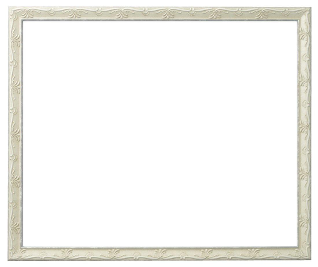 ラーソンジュールニッポン 額縁 ウィーン 白/シルバー 半切 アクリル DB34206 B00D0Z02QO 半切|白/シルバー 白/シルバー 半切