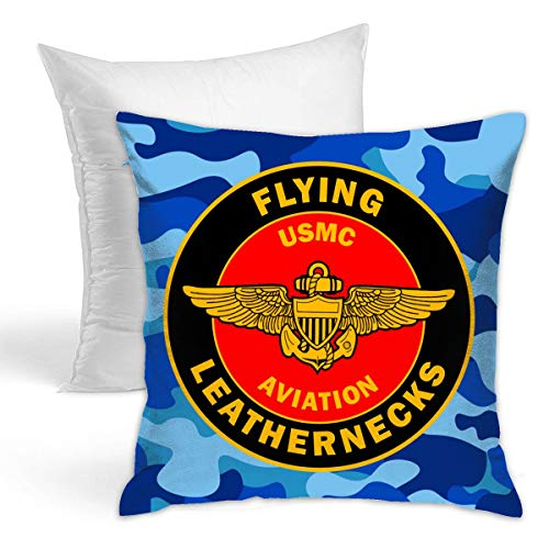 Leatherneck Jacket - USMC Flying Leathernecks Fashion Throw Pillow Cafe Home Decor Zippered Pillow with Insert