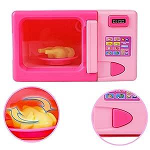 MAJGLGE - Juguete de microondas portátil para niños y niñas ...