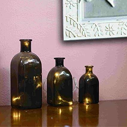 Sohler - Juego de 3 luces decorativas para botellas de cristal ...