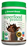 Ground-Based Nutrition Certified Organic Superfood Protein – Zero Carb Plant-Based Protein- Raw Food Protein Powder | All Natural Formula, Vegan, Sugar Free, Rich Chocolate, Vegan, Non-GMO, 20 Svgs