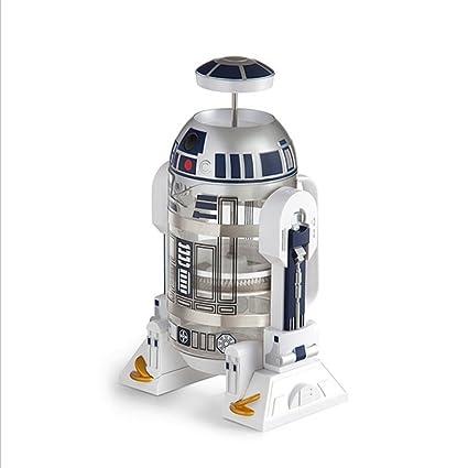 Guerra de las Galaxias R2-D2 Maquina de cafe Cafetiere Creatividad Cafetera con filtro permanente