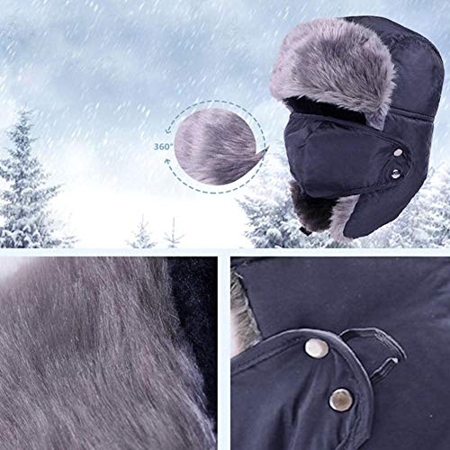 925e1c3fa Moile Trapper Hat Winter Outdoor Cold Hats Cycling Caps Masks Hat Windproof  Warm Mask Ear Flaps Outdoor Sports Walking Skiing Hunting Hat