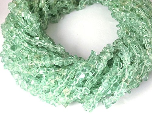 Endless Chips Necklace (3 Beautiful Necklace Making Synthetic Aquamarine Chips Beads Strands,jewelry Making Chips,34