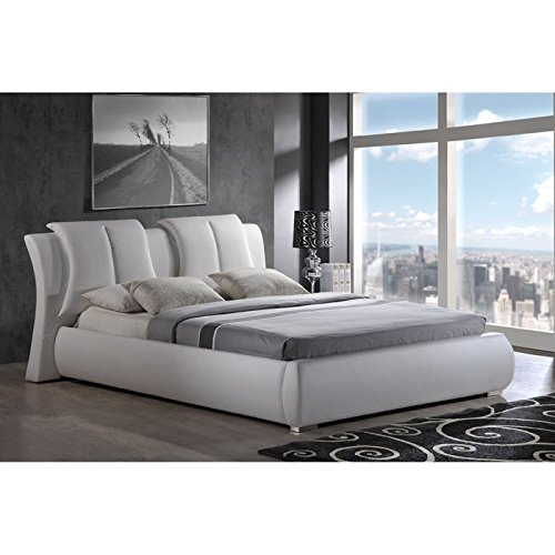 Global Furniture Upholstered Bed, King, White