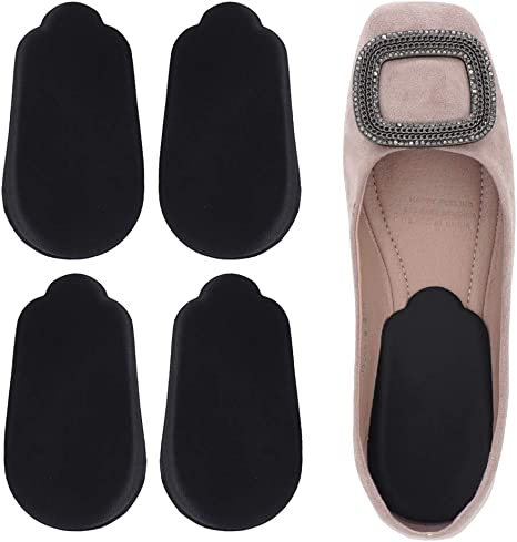 2 Pairs Medial /& Lateral Heel Wedge Silicone Insoles Corrective Adhesive Shoe