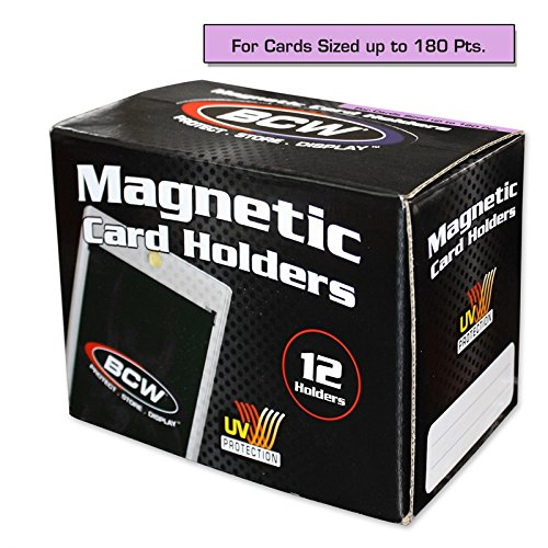 Box of 12 BCW Magnetic Card Holders - 180 Pt.