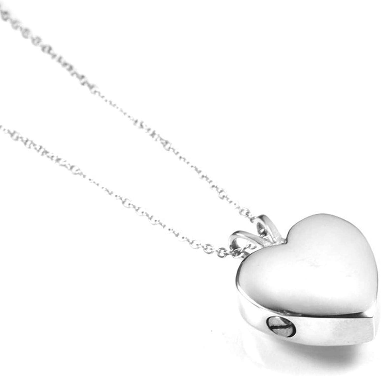 Delicate Silver Heart Shape Urn Ashes Pendant Stainless Steel Five Color Pet Paw Memorial Cremation Animal Keepsake Necklace