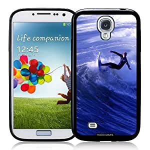 Surfer Surfing Waves - Protective Designer BLACK Case - Fits Samsung Galaxy S4 i9500