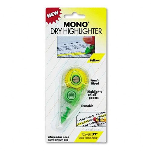 Tombow Mono Dry Highlighter Tape, Fluorescent Yellow, Single Line (63101) by Tombow (Image #1)