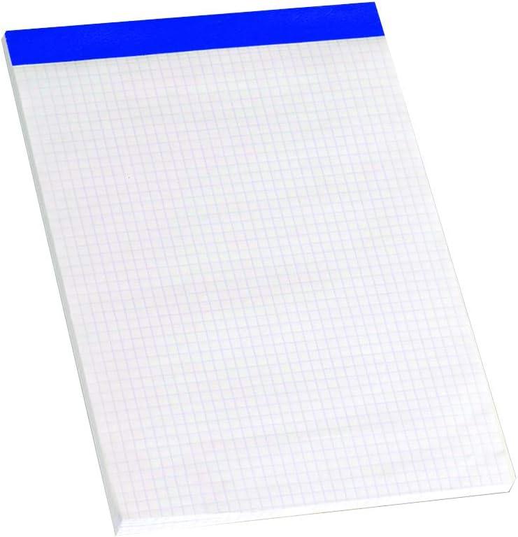 Enri 100104572 - Pack de 5 blocs de notas grapados sin tapa, A5: Amazon.es: Oficina y papelería