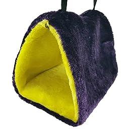 Purple Star Sun Conure Green Cheek Bird Parrot Shed Hammock Warm Hut Nest (pur., M)