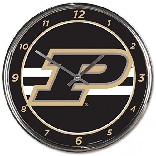 NCAA Purdue Boilermakers WinCraft Official Chrome Clock ()