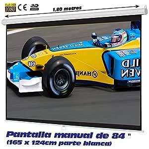 """Pantalla de proyeccion Manual Luxscreen 84"""" Pulgadas, área"""
