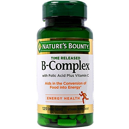 (Nature's Bounty B-Complex With Folic Acid Plus Vitamin C Tablets 125 Tablets (Pack of 2))