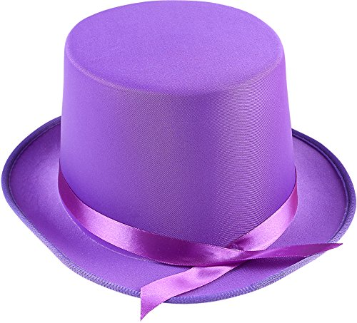 Adults Tap Dancer Magician Purple Fabric Top Hat Costume (Tap Dancer Halloween Costumes)