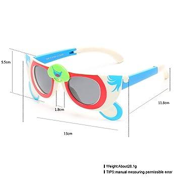 Forme a Niños el Silicón Que Dobla Las Gafas de Sol Ligeras Polarizadas Niños Monkey Gafas