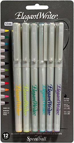 Speedball Art Products Elegant Writer Calligraphy Marker Set (12 Pack), 1.3mm ()