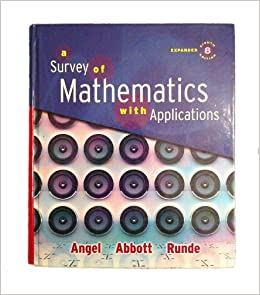 9780321563163: survey of mathematics with applications, expanded.