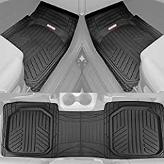 All New Trifle Design - The capturing and easy cleaning ability of deep dish mats with a modern look, Flexible channels and layers conform to your vehicle floor. Now featuring and odorless rubber formula that won't crack, split or deform in h...