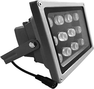LONNKY LED Illuminator 8-LED 80Ft IR Infrared Flood Light for CCTV Security Cam