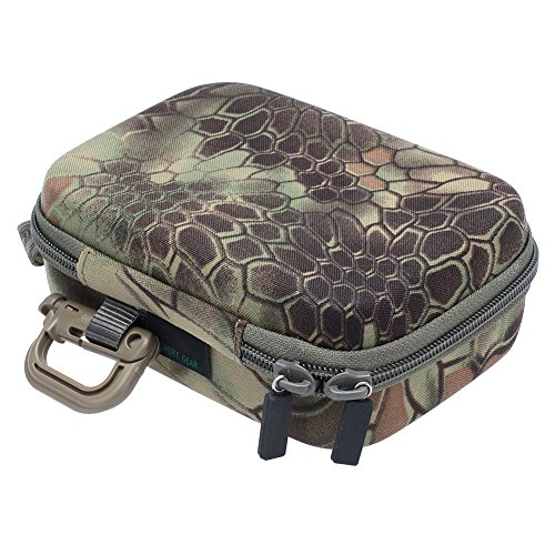 """Neewer 7"""" x 5.1"""" x 2.6"""" / 18 x 13 x 6.5cm Small Size EVA Shockproof Storage Case / Carrying Case / Travel Case for GoPro Hero 4/3+/3/2/1 (Grey Green Camo)"""