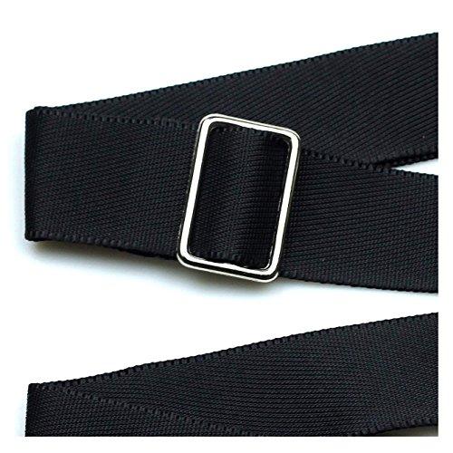 Hibate Replacement Shoulder Strap Adjustable Luggage Bag - Black, Non-Slip Pad